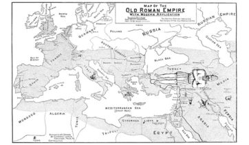 The Old Roman Empire Map Chart
